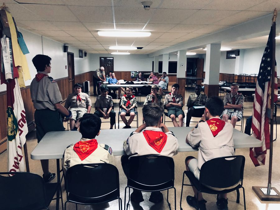 Troop 32 Holds Leadership Elections