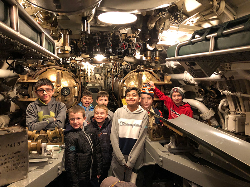 Highlights from Troop 32's visit to the USS Cobia